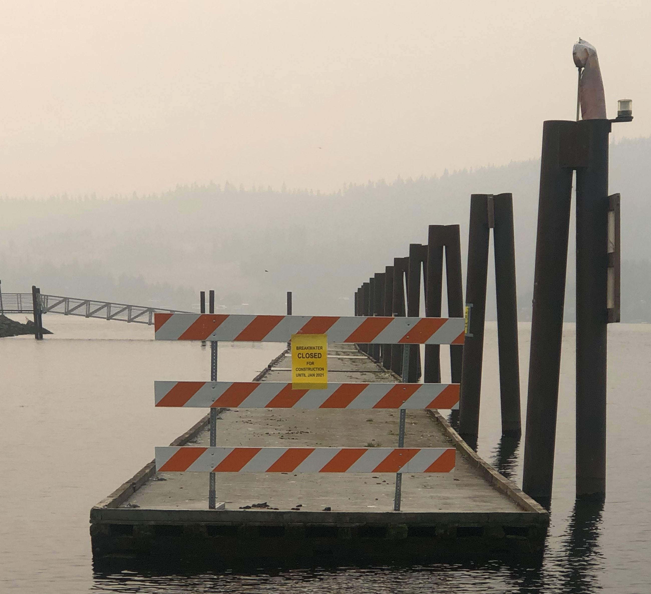 Harrison Breakwater closed for construction
