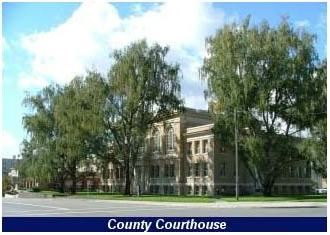 County Courthouse with trees